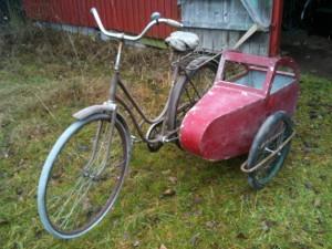cykel med sidvagn
