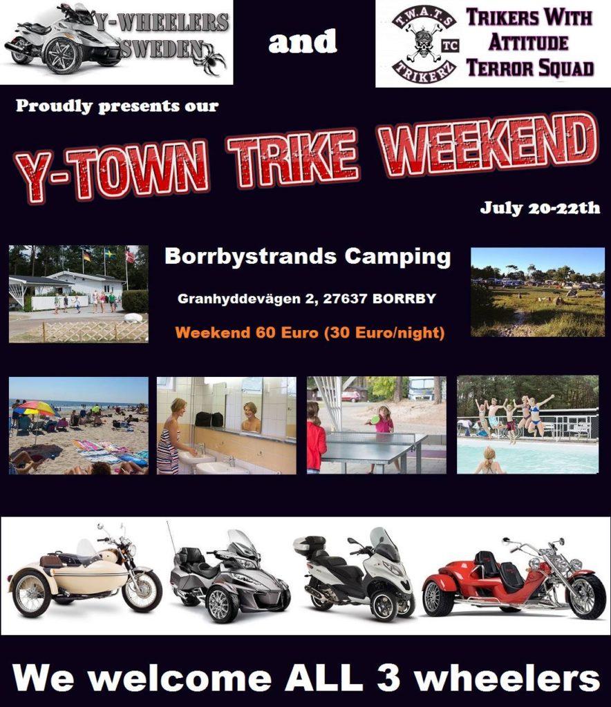 Y-Town Trike Weekend @ Borrbystrands Camping | Skåne län | Sverige